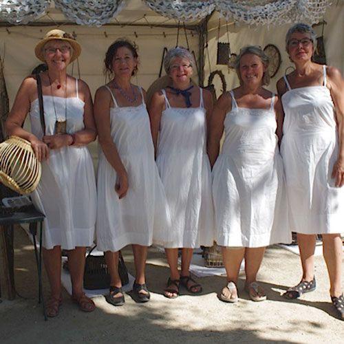 Damerne klar til marked i Vallabreque