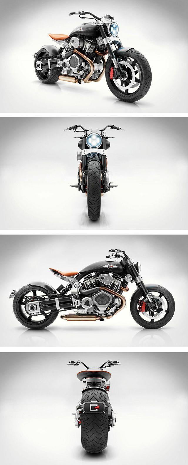 Hellcat Boom Motorcycle Moto Bike Cafe Racer