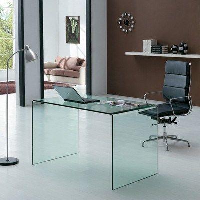 Bent Glass Desk Giavelli Glass Desk Office Office Desk Computer Desks For Home