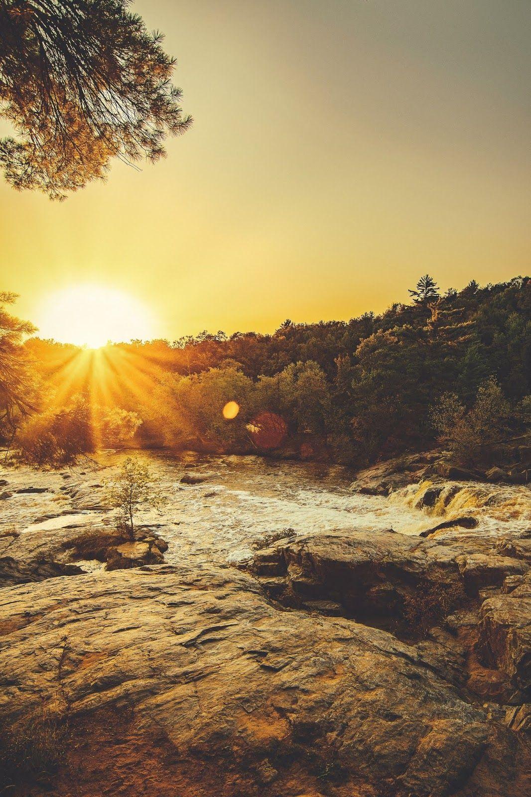 Sunset Evening Golden Horizon Mobile Wallpaper Hd Wallpapers For Mobile Hd Landscape Landscape Wallpaper