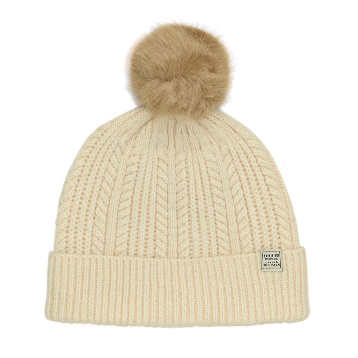 d9e55fad14ac9 Buy Joules Bobble Hat Cream with great prices
