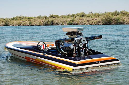 71 Nordic flat bottom with blown 468 chevy | Bad Ass Boats