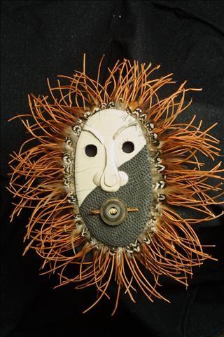 Raku mask. www.NitaClaise.com