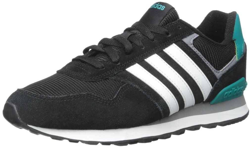 adidas NEO Men\u0027s 10K Lifestyle Runner Sneaker,Black/White,10.5 ...