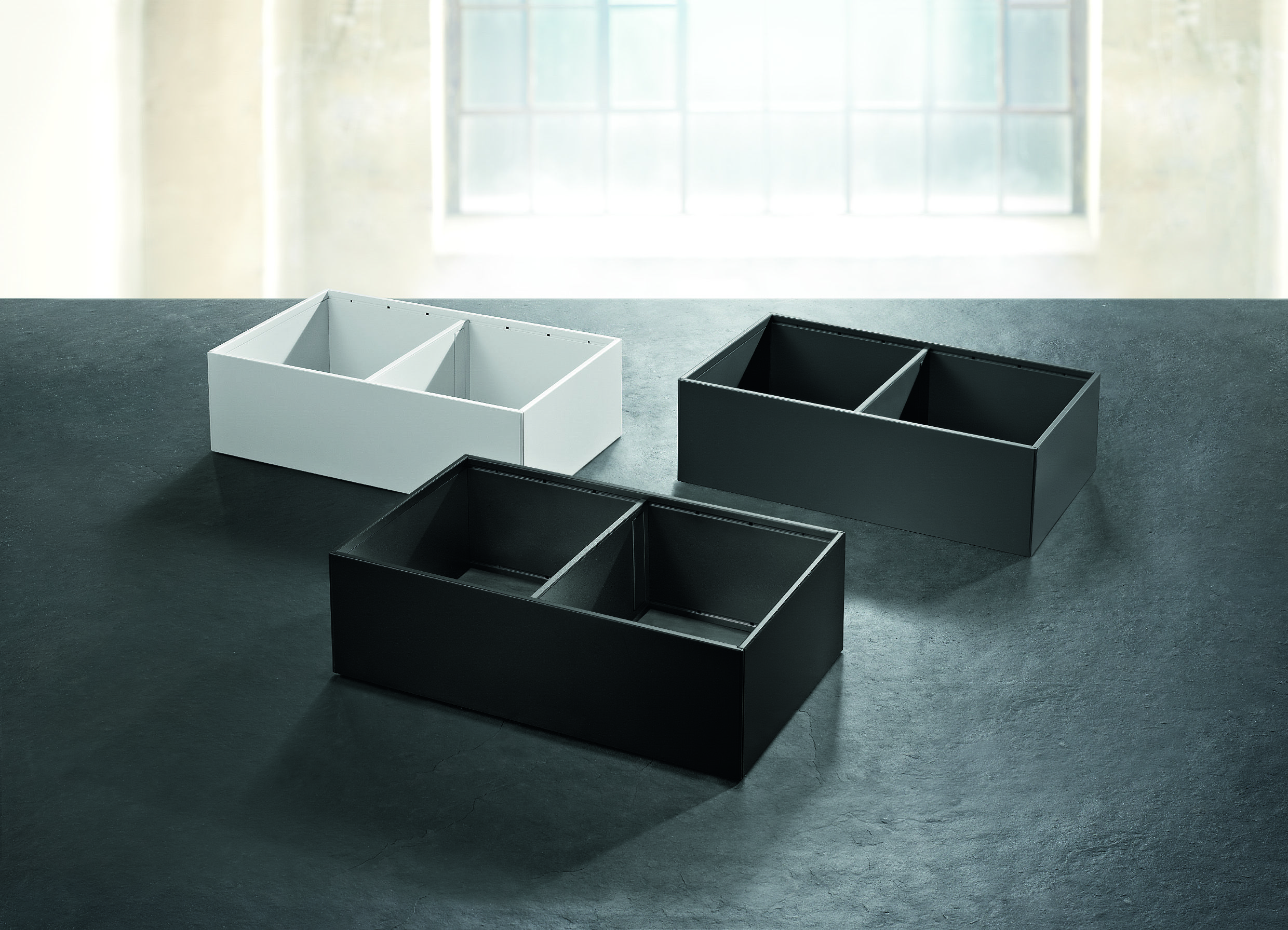 Metal Drawer inserts are available in Terra Black, Orion Grey and ...