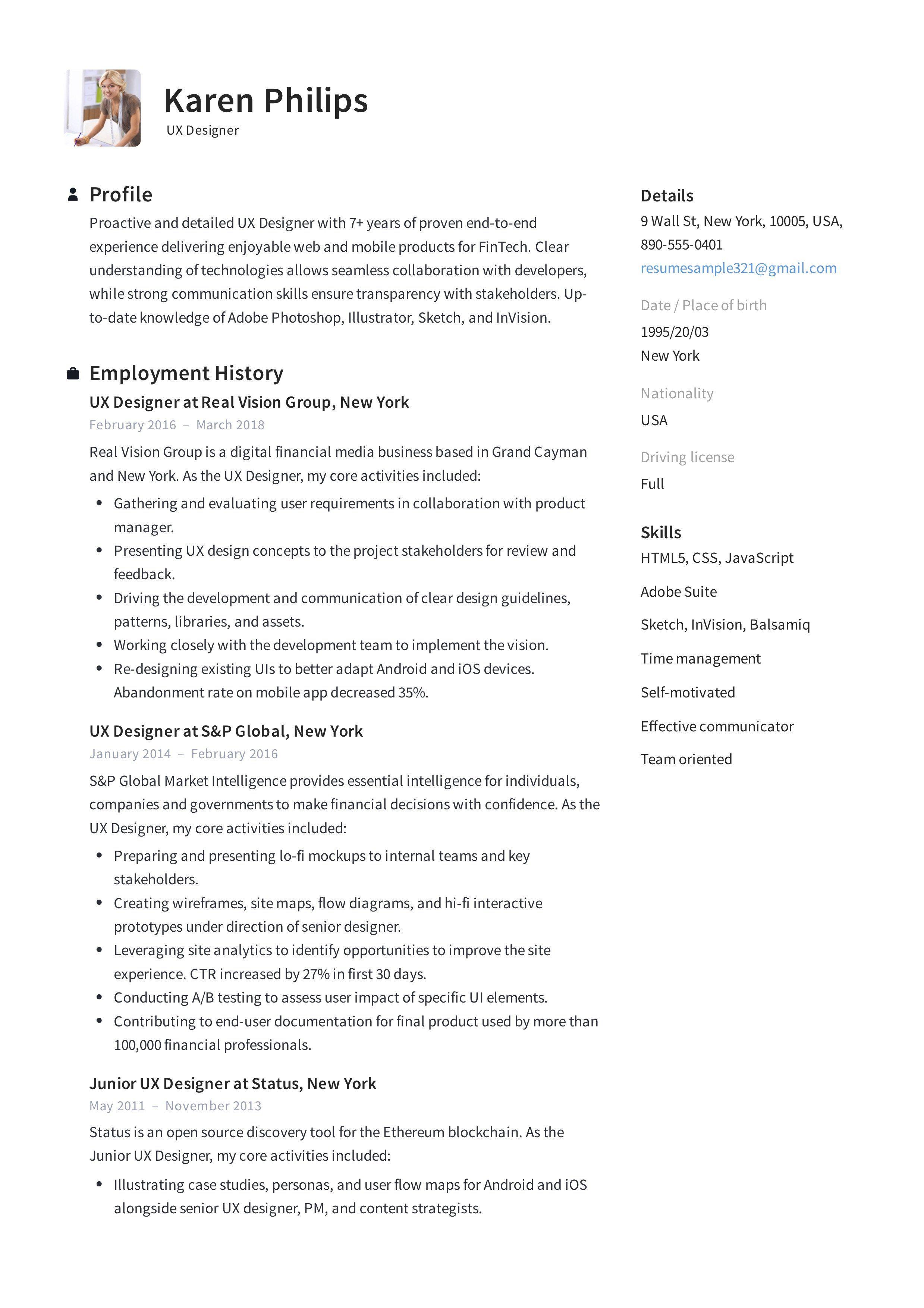 Computer science objective resume luxury 12 ux designer