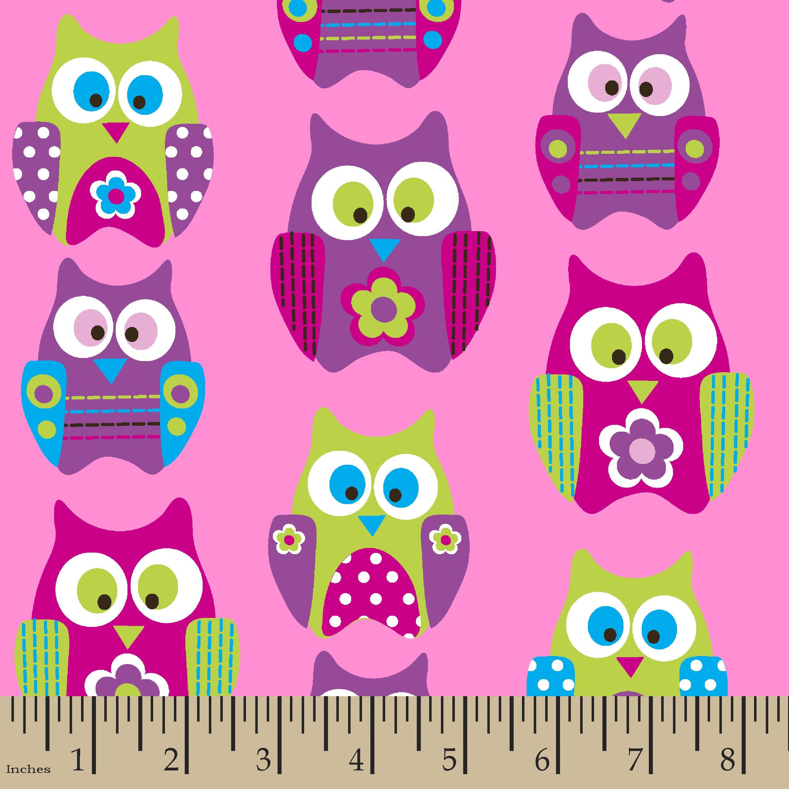 Soft n comfy fabric flower owlssoft n comfy fabric flower owls