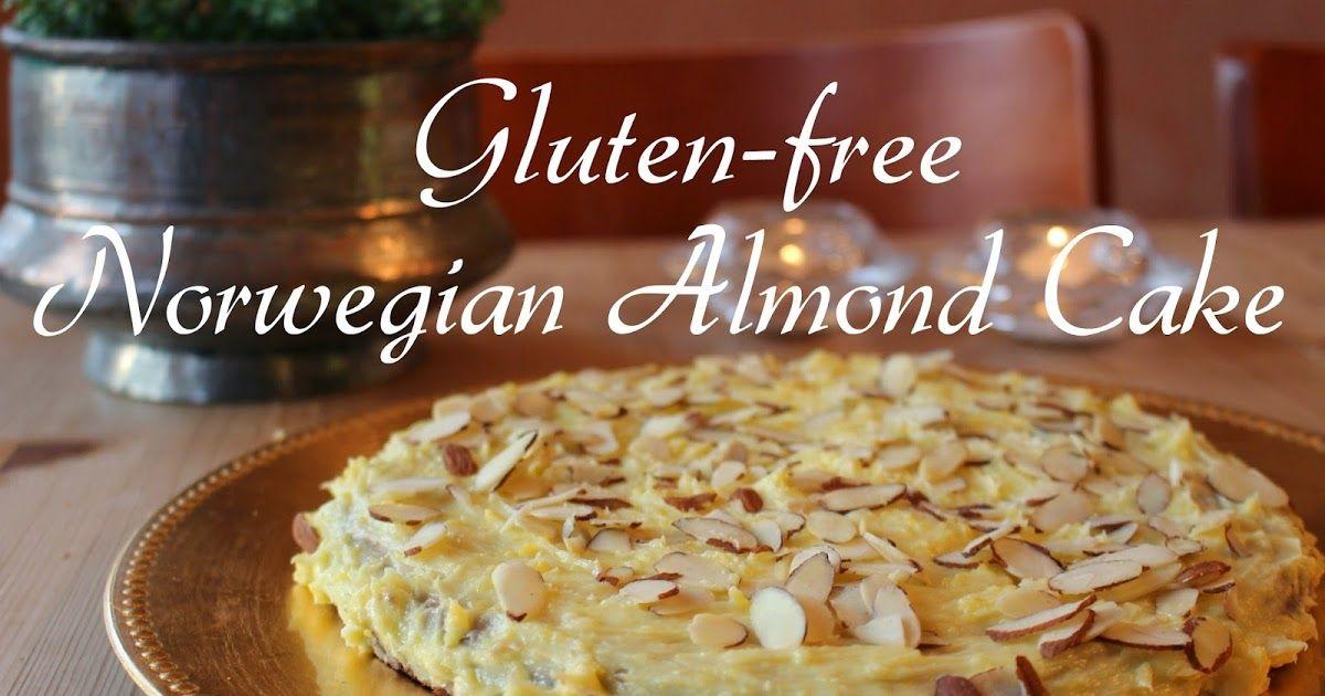Glutenfree norwegian almond cake suksesskake with