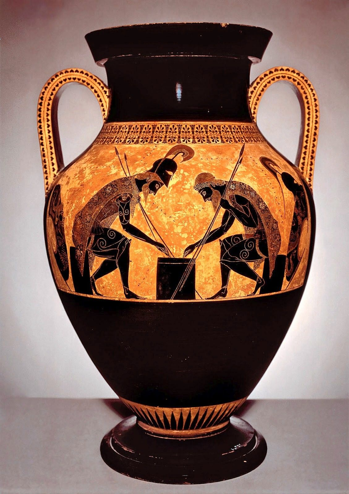 Exekiasachilles and ajax playing a dice game detail from an achilles ajax playing dice greek vase ca 530 bc vatican floridaeventfo Image collections