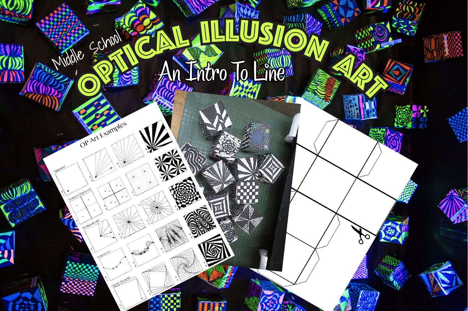 Optical Illusion Art Op Art Amp An Intro To Line