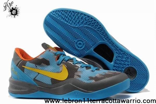 Sale Discount Nike Zoom Kobe VIII (8) Grey Blue Yellow Your Best Choice