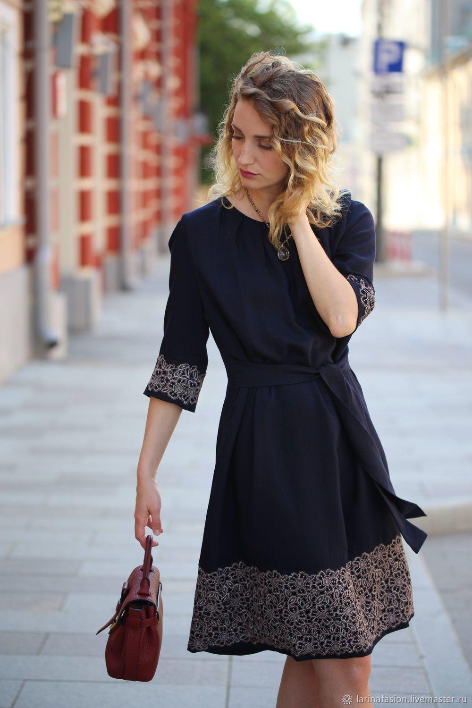 9c34f6137e2 Купить Синее платье из шерсти