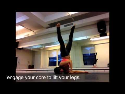 shoulder stand tips with aerial amy floorwork  pole