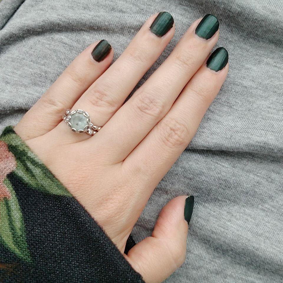Dark Green Desire Matte Nail Polish. Dries super quick, in a couple ...