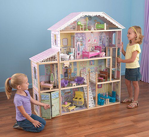 Amazon com kidkraft majestic chateau mansion wooden dollhouse play set toys games