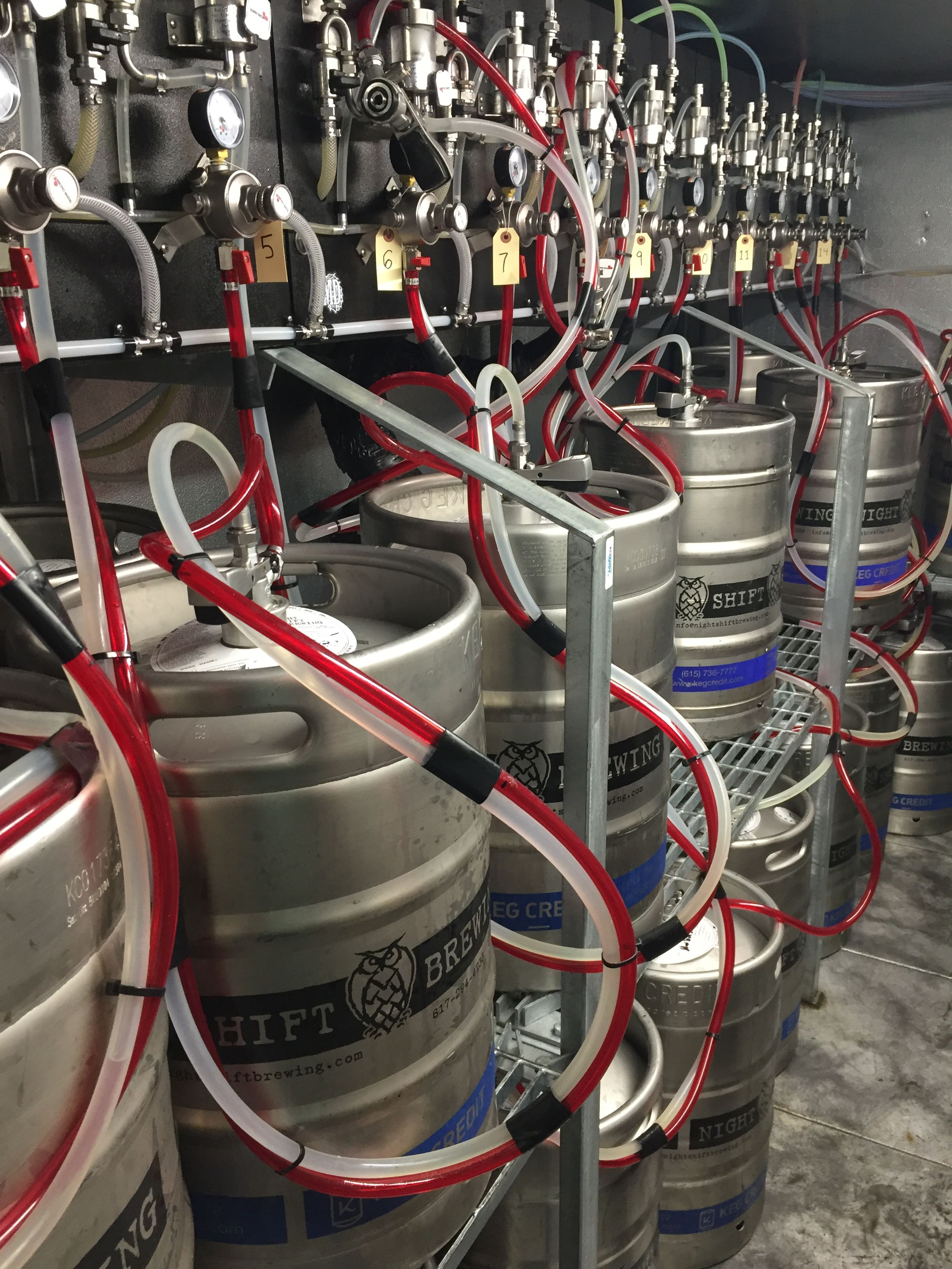 Night Shift, Brewing, Keg Room, Custom, Keg, Room, Rack, Shelving, Draft,  Beer, Storage, Solution, Heavy Duty, Steel, Cases, Bottles, Draft, Lines,  Beer, ...