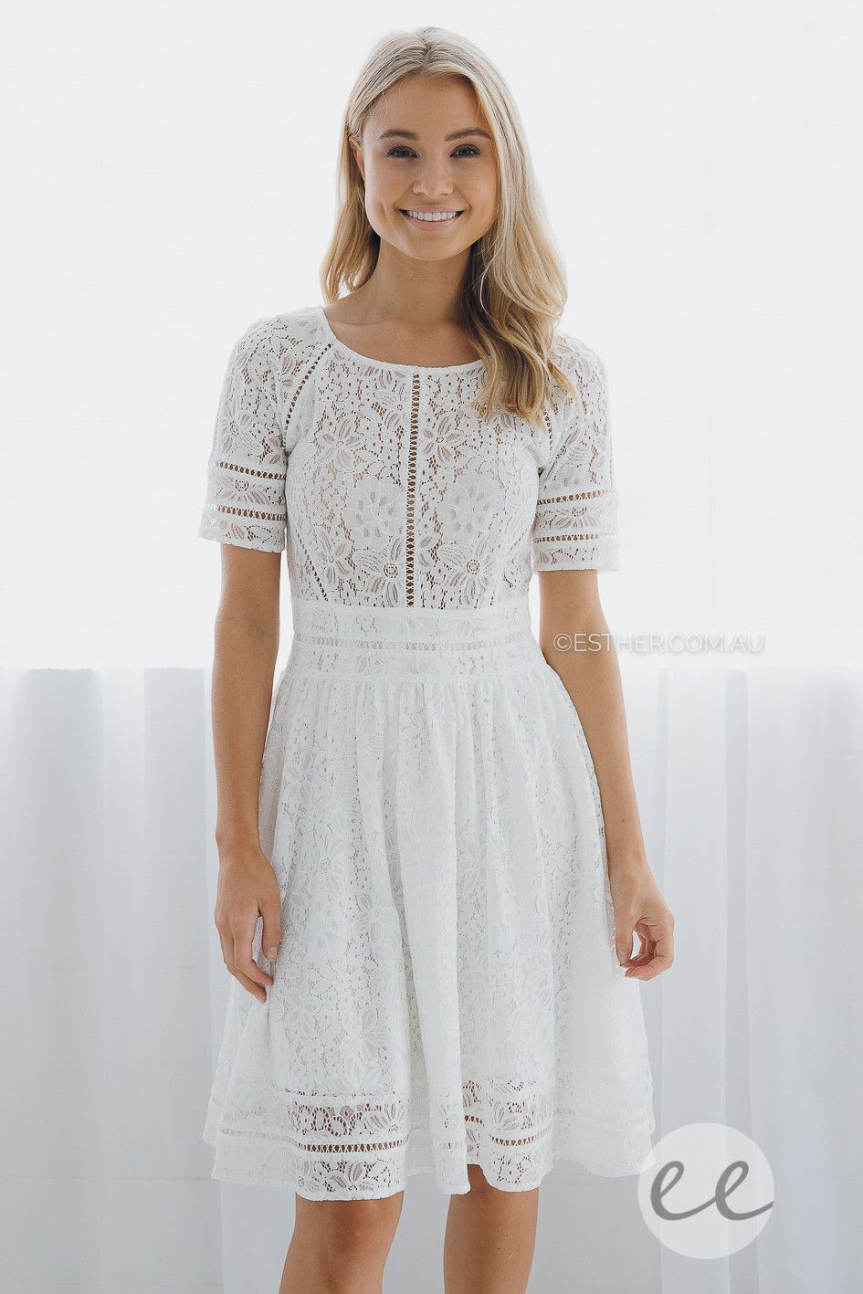 ivy lace dress - ivory | #1- Actual Dresses I NEED | Pinterest