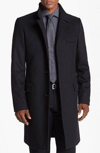 Boss Hugo Boss Sintrax Wool Blend Coat Awesome Structure Classy And Sophisticated Manner Outfit Bekleidung Gut Gekleidete Manner