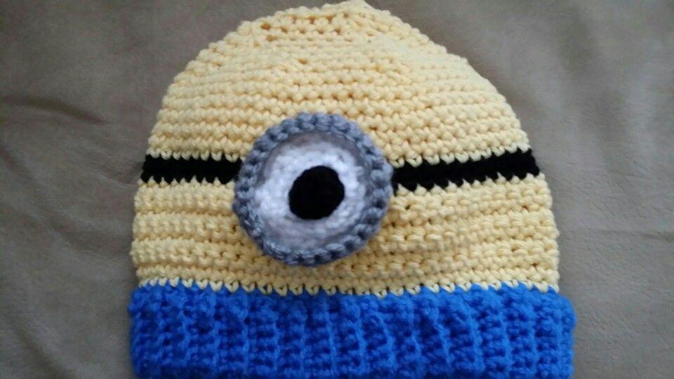 Crochet Hat - Boys Minion