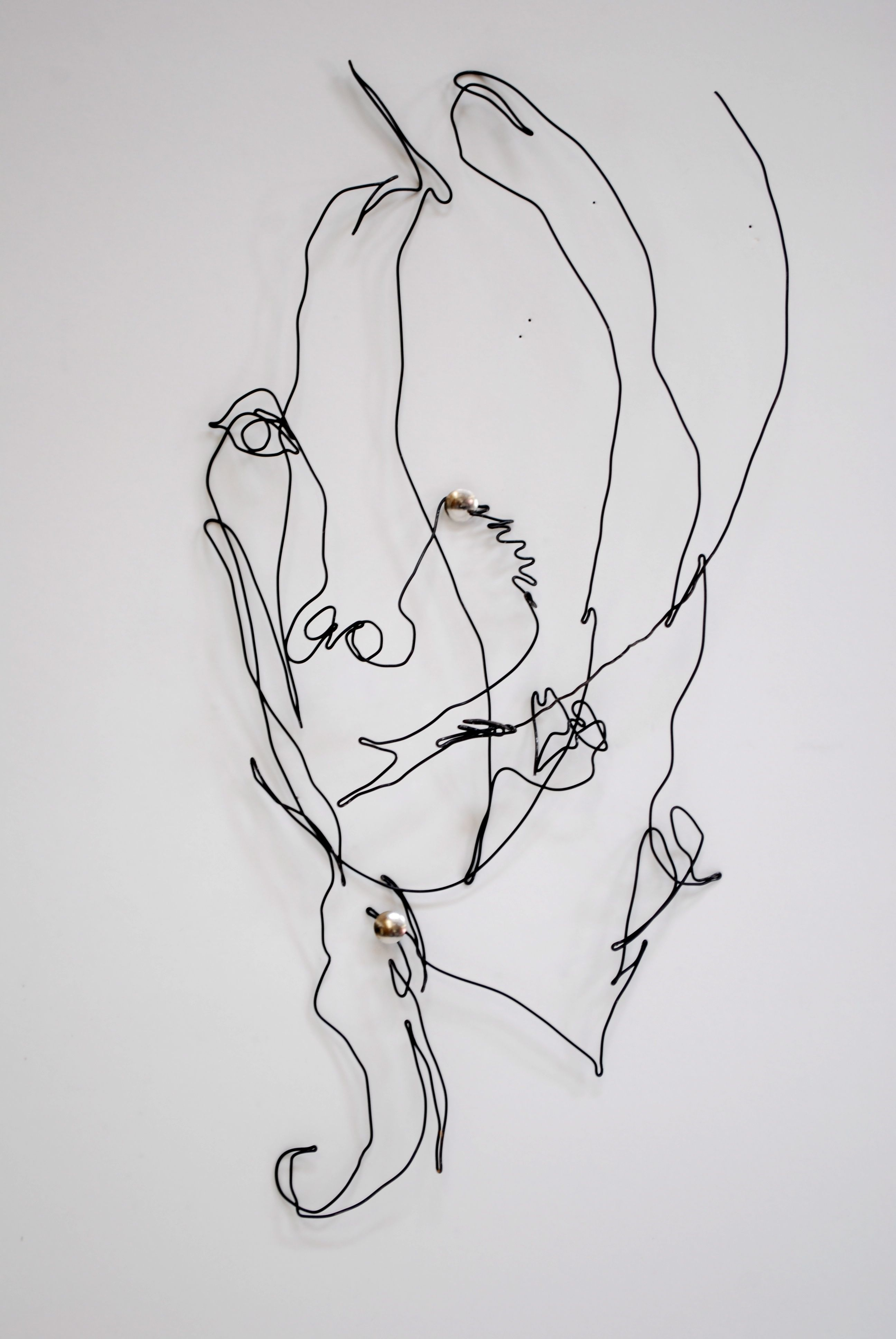 Wire Self Portrait Based Off Contour Drawing Continuous