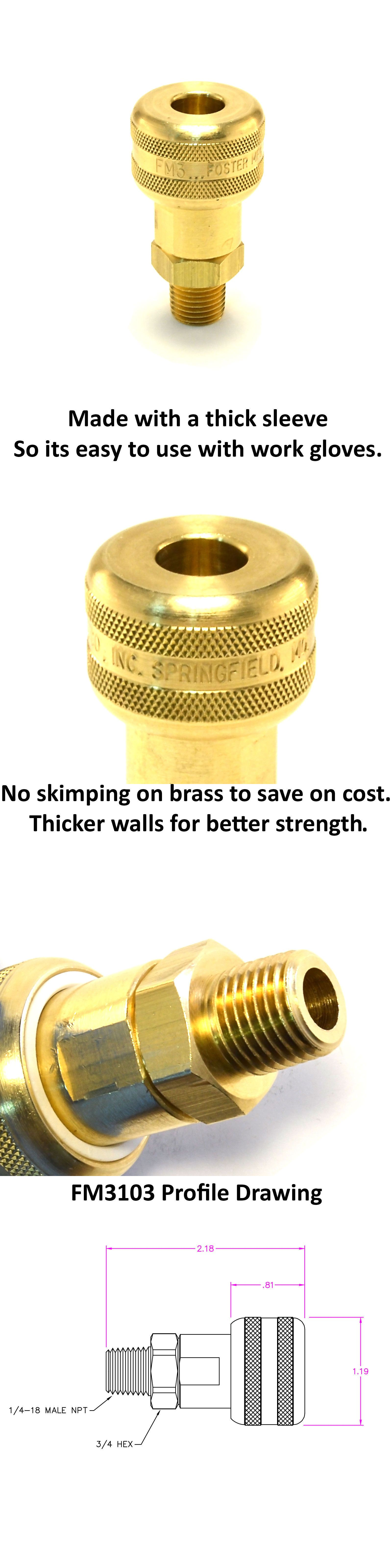Air Tools 42340 1 4 Male Npt 1 4 Quick Connect Coupler Brass Air Hose Fittings M Mil Buy It Now Only 11 45 On Ebay Tools With Images Air Tools Air Hose Work Gloves