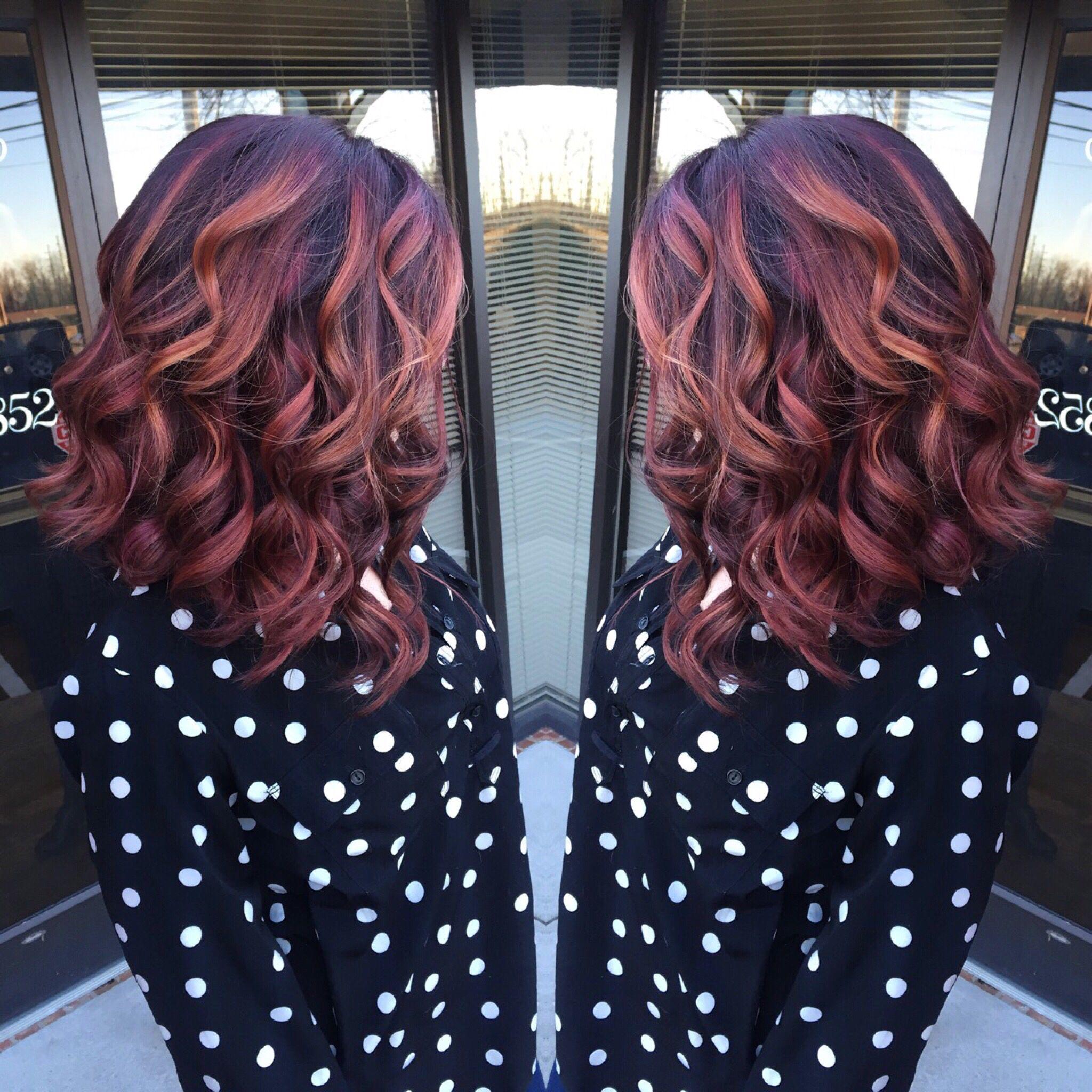 Balayage red violet copper Makeup Hair u Nails Pinterest