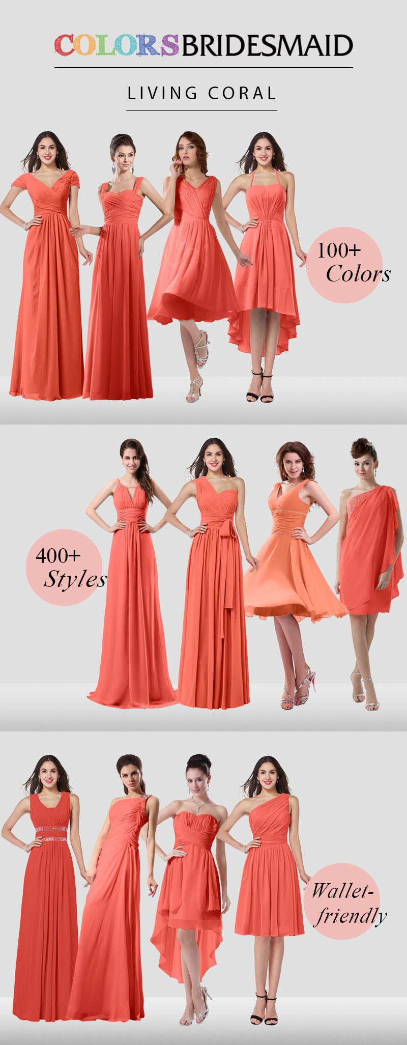 Red Bridesmaid Dresses Living Coral Color Coral Bridesmaid Dresses Wedding Dresses Bridesmaid Dresses