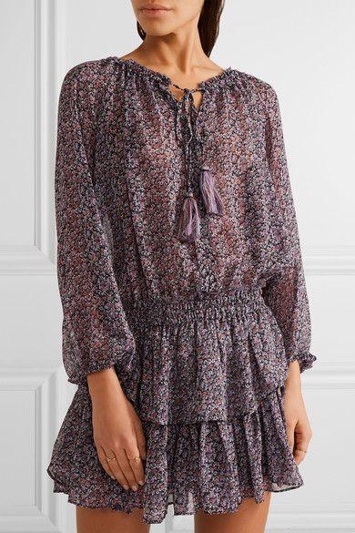 ff9e2f0e8da LoveShackFancy - Popover floral-print silk-georgette mini dress in ...