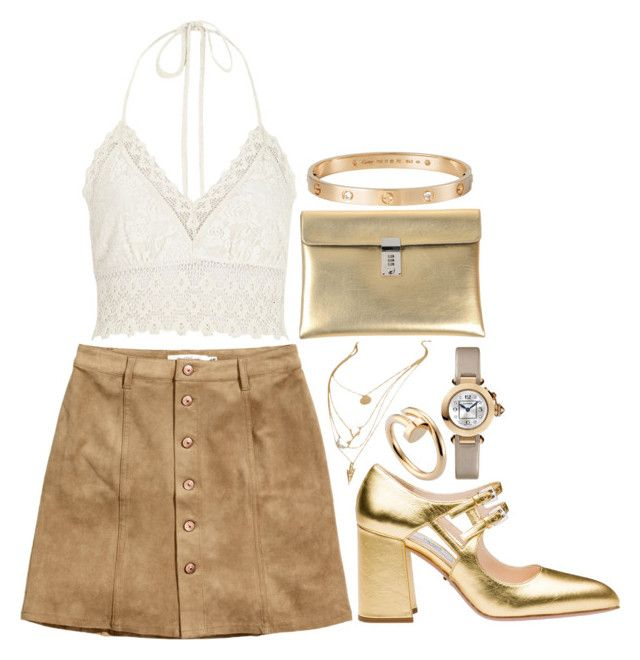 """""""I Have Nothing"""" by kokoclinton ❤ liked on Polyvore featuring H&M, River Island, Prada, Golden Goose and Cartier"""
