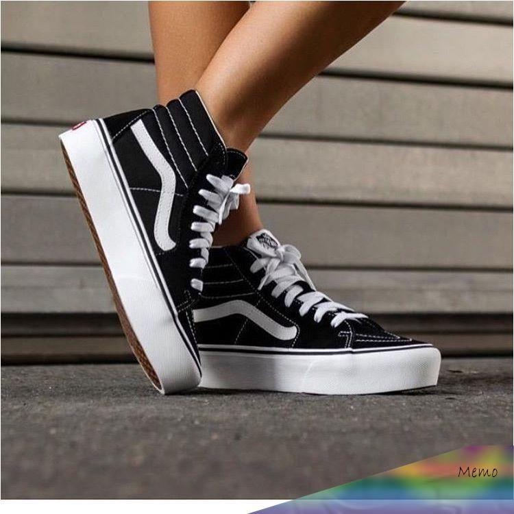 chaussure vans noir plateforme