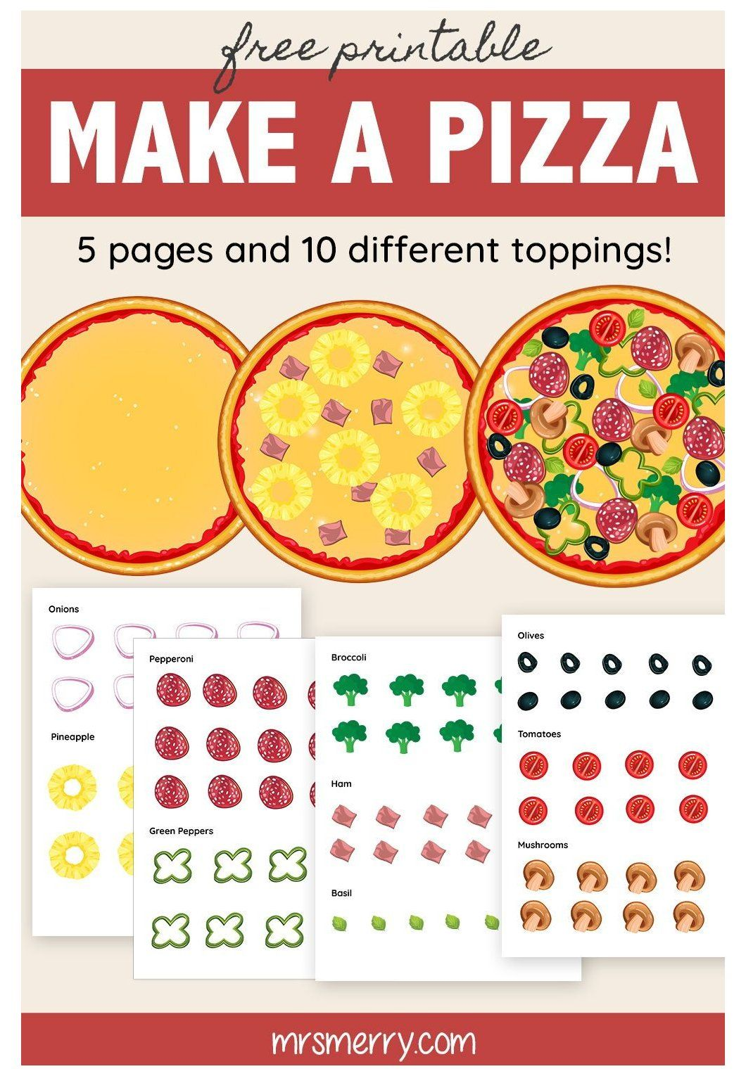 Make A Pizza Printable Cutouts Printable Pizza Toppings Free Printable Build Your Own Pizza 5 Kids Crafts Free How To Make Pizza Free Activities For Kids [ 1530 x 1060 Pixel ]