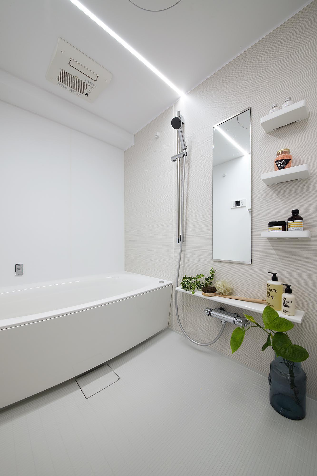 Ledライン照明の浴室 浴室 ユニットバス リフォーム 日吉 東急