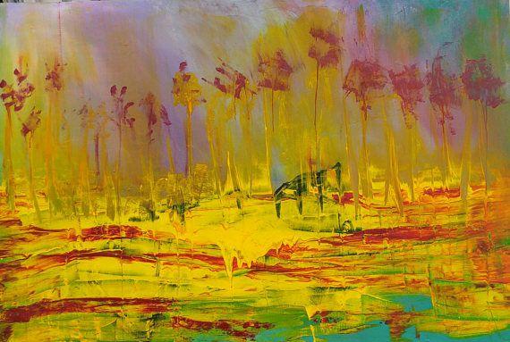 Large original painting original abstract painting acrylic painting ...