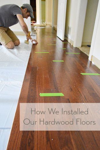 How To Install Oak Hardwood Floors Our Diy Projects Pinterest