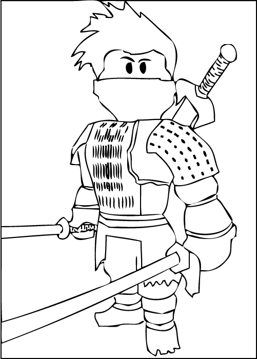 A free printable Roblox Ninja coloring page | kids | Pinterest ...