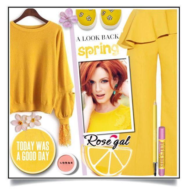 """ROSEGAL one color challenge - ginger"" by ewa-naukowicz-wojcik ❤ liked on Polyvore featuring Oscar de la Renta, LORAC, Revlon and Burt's Bees"