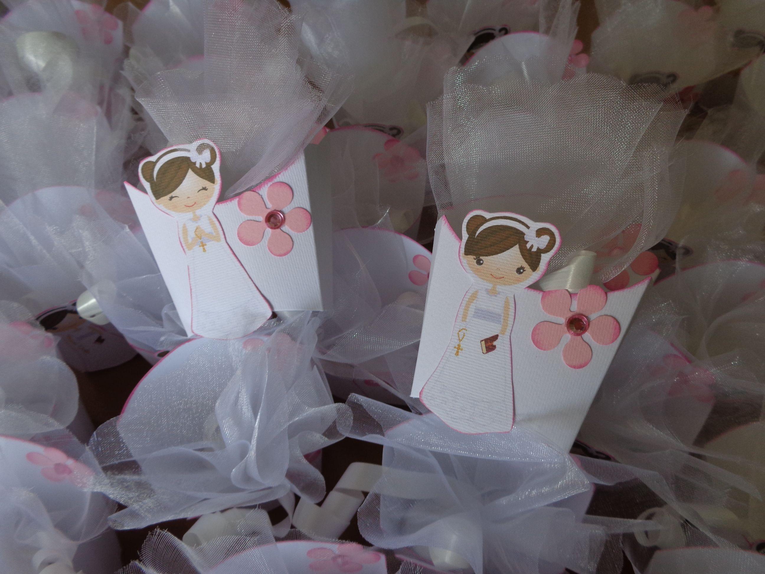 Tavolo Comunione ~ Porta confetti segna posto per una prima comunione prima