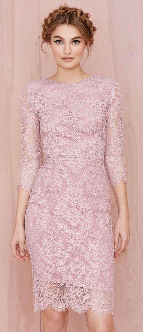 pink lace dress | lace | Pinterest | Graduación, Llevamos y Deberes