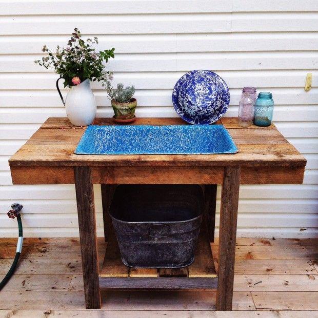 simple bites urban homestead tour - outdoor sink | homestead ... - Patio Sink Ideas