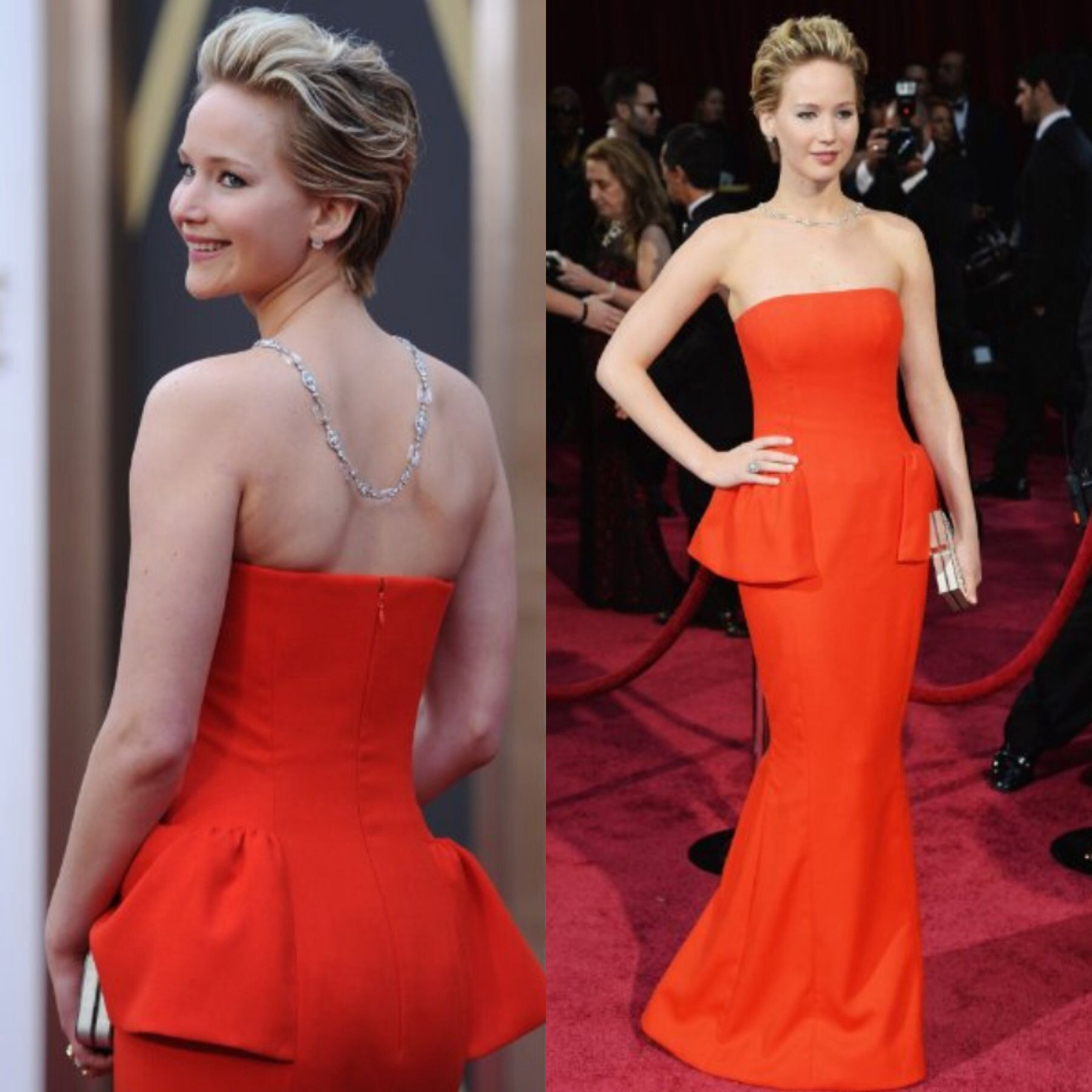 Jennifer Lawrence in Dior at 2014 Oscars... Loving the dress! I'm trying to copy totally