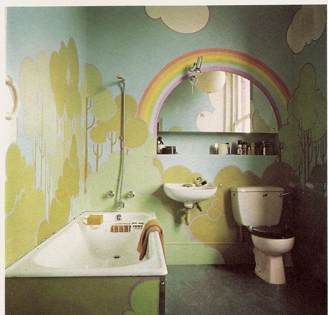 What Lies At The End Of The Rainbow House And Home Magazine Rainbow Room Rainbow Bathroom