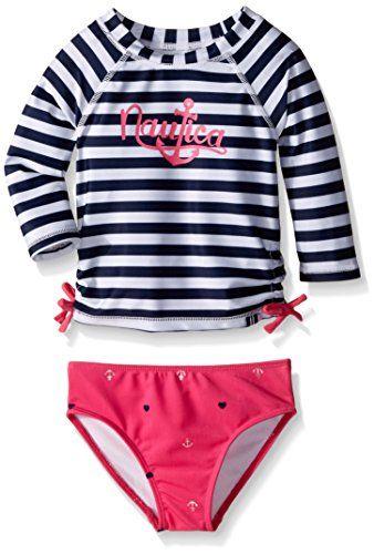 Nautica Little Girls Anchor Foil Ras Fashionable Baby Clothes