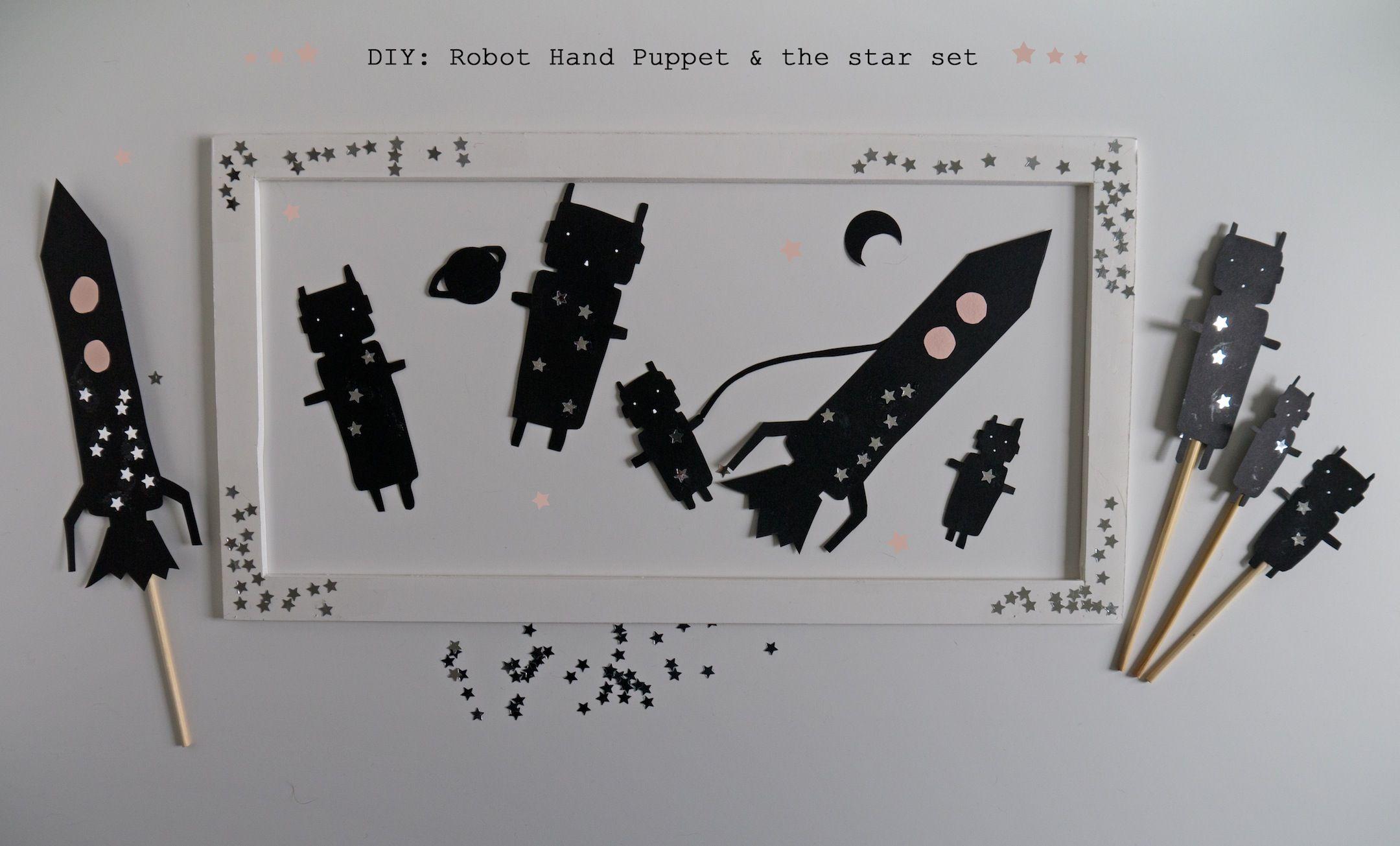 DIY: Robot family, hand puppet FREE template | La maison de Loulou ...