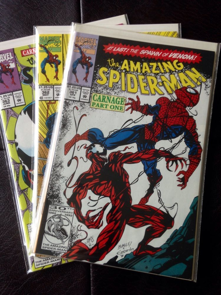 Marvel Amazing Spider Man 361 362 363 First Full Appearance