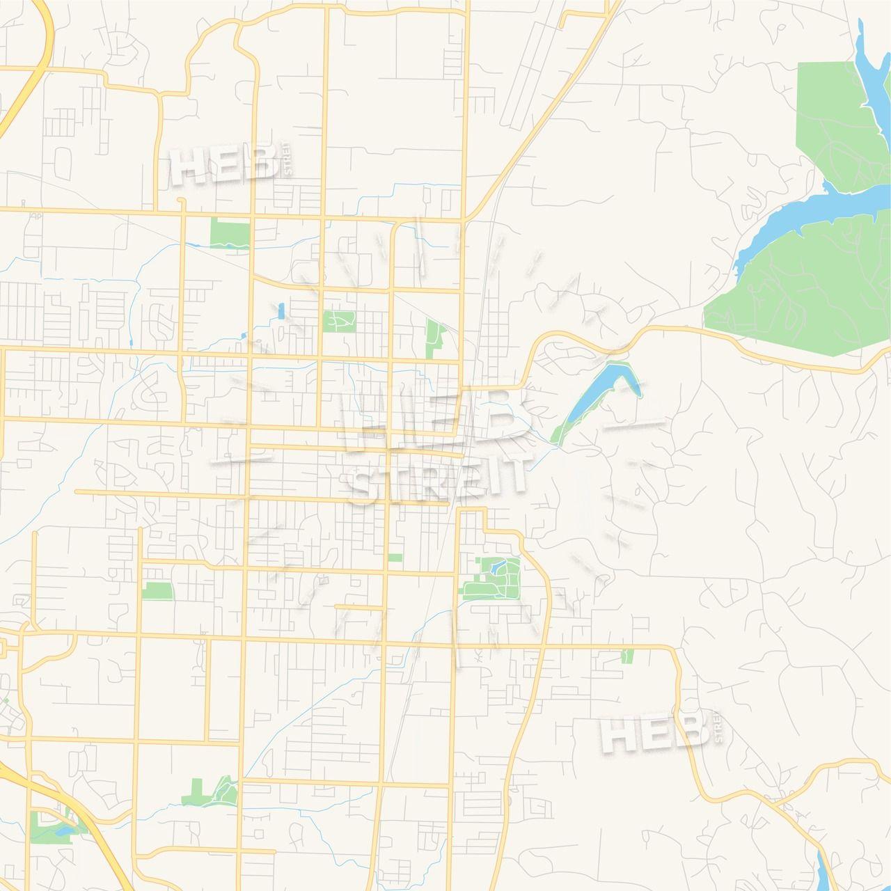 Empty vector map of Rogers, Arkansas, USA | Maps Vector ...