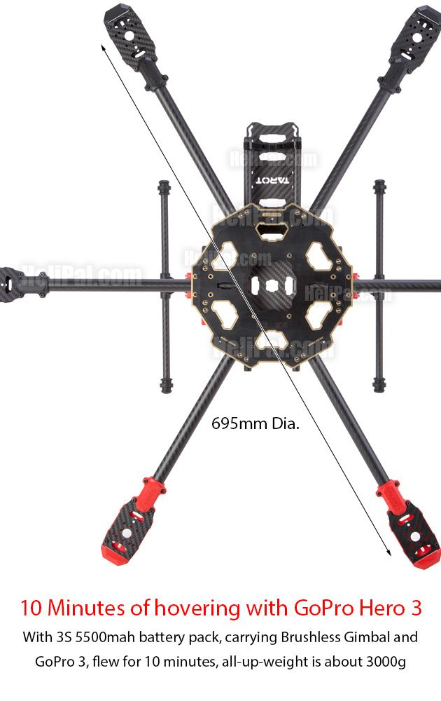 Tarot 680 Pro Hexacopter Build Kit in 2018 | Hexacopter | Pinterest ...