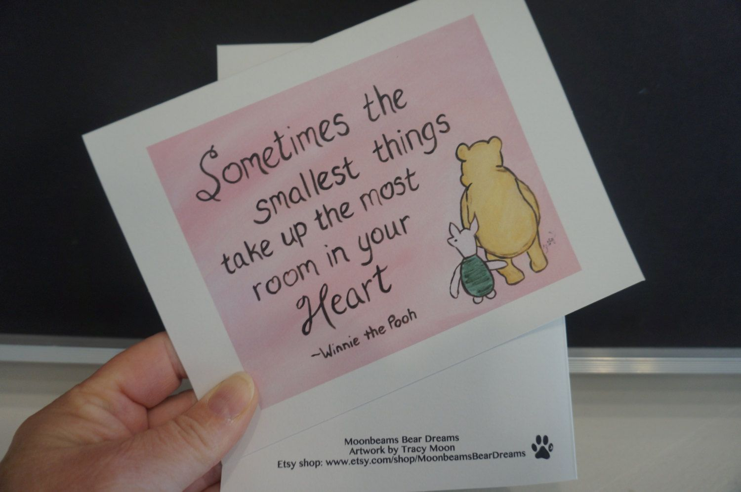 Valentines Card Winnie The Pooh Card Sometimes the smallest things take up the most room in your heart New Baby Congratulations Card