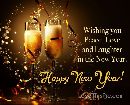 wishing you peace love and laughter in the new year happy new year