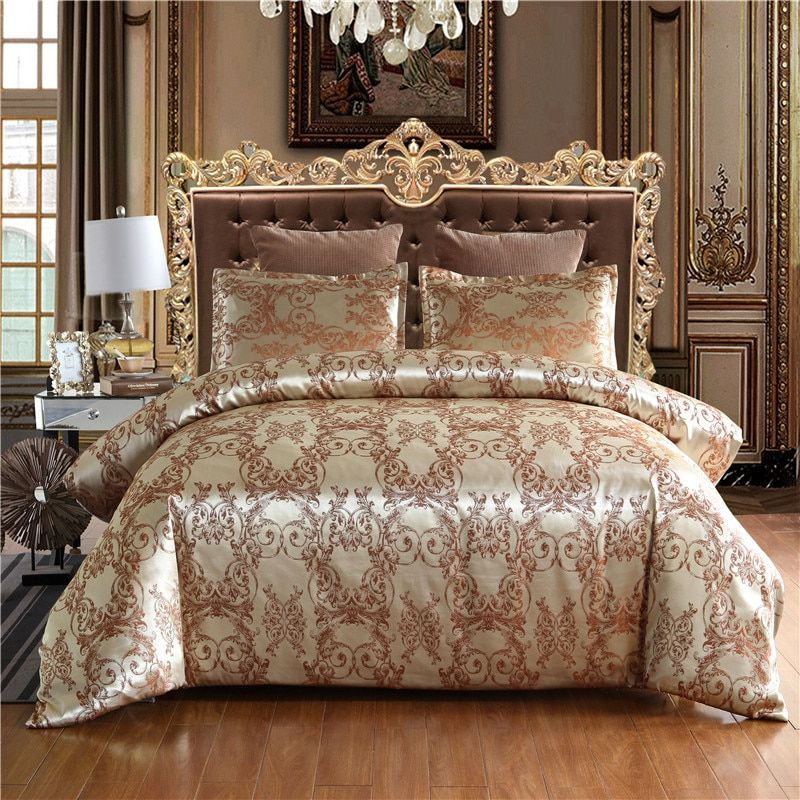 Warmsliving Luxury Jacquard Bedding Set Single Queen King Size Bed Linen Quilt Cover 100 Polyester Comfortable Duvet Cover Set Luxury Bedding Sets Luxury Bedding Luxury Bedding Set