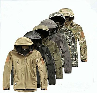 Men outdoor jacket #waterproof tad coat shark skin soft #shell #hoodie hunting du,  View more on the LINK: http://www.zeppy.io/product/gb/2/251739252985/